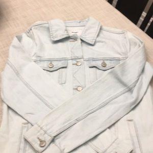 BNWT faded jean jacket.  Classic!